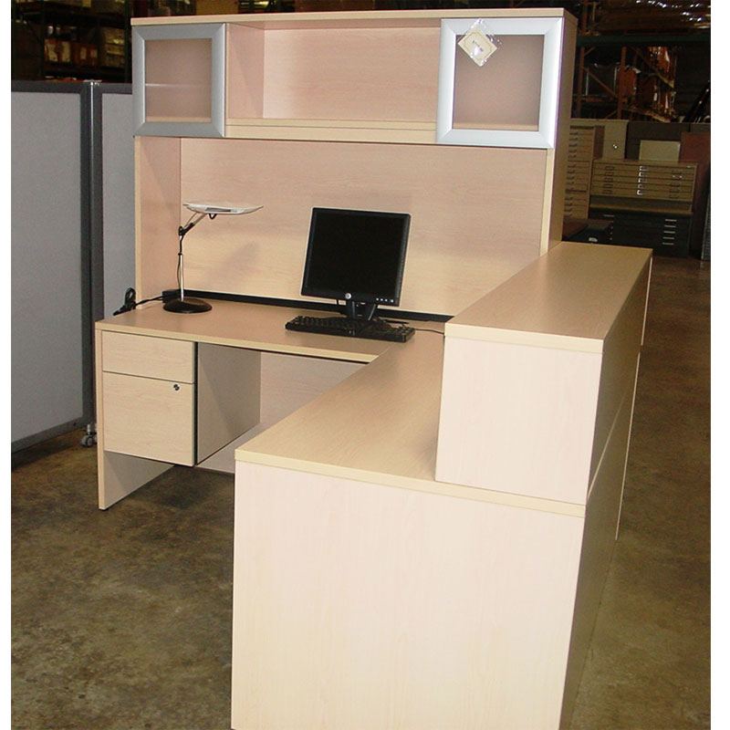 all best about l hutch with shaped moedern image design desk reception house of