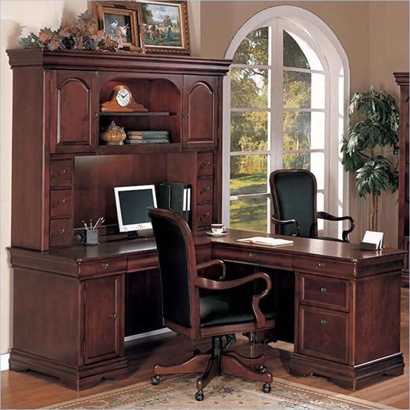 rue de lyon traditional home office desk hunter office
