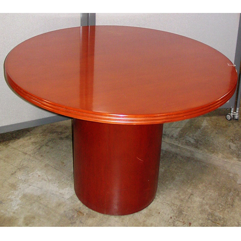 Wood Round Conference Table New Used Office Furniture Dallas TX - Round wood conference table