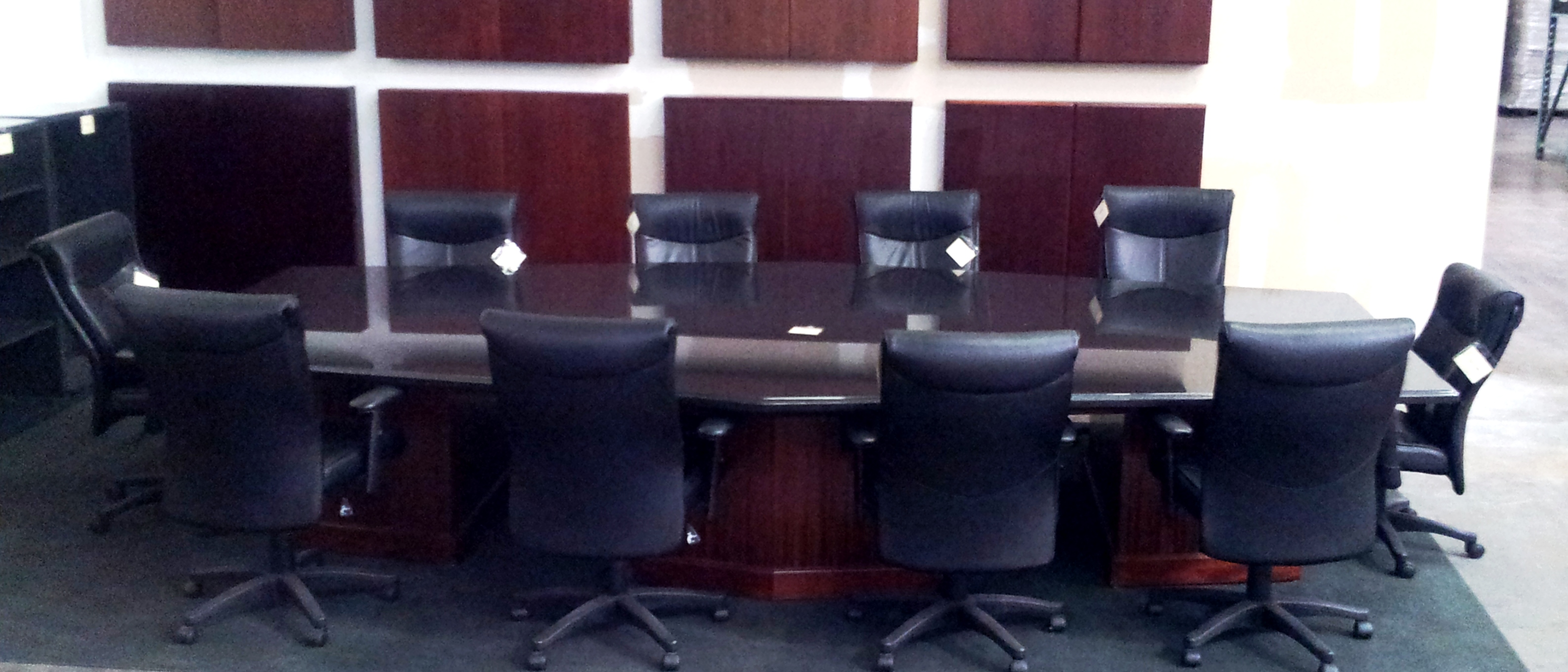 Custom 15′ Data Conference Table